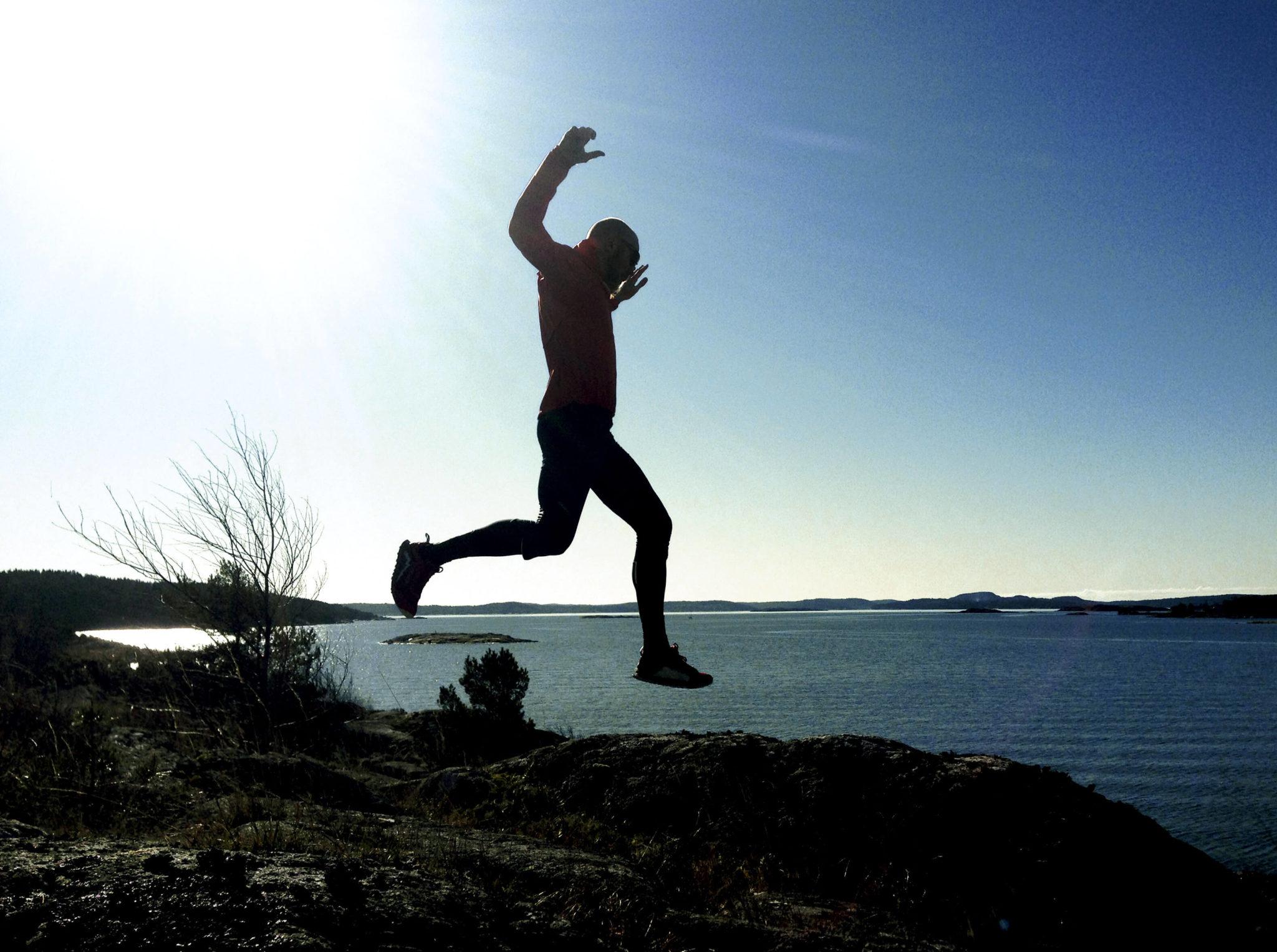 Ultralöpning hopp.