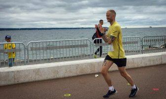 Silvermedaljör Sebastian Pokorny på SM 100 km