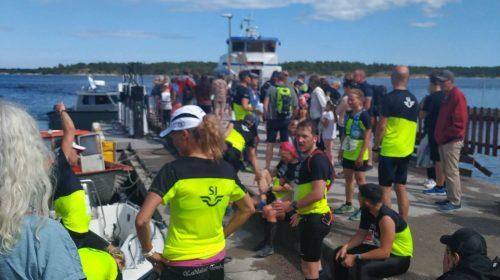 Vid starten på fjärde ön Möja. Foto: Jonas Erlandsson.